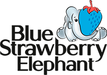 Blue Strawberry Elephant